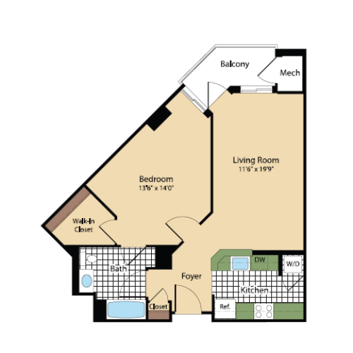 Floor Plan 17 | Meridian at Pentagon City