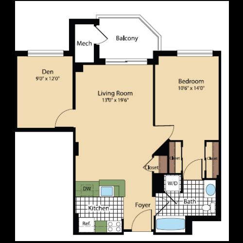 Floor Plan 18 | Meridian at Pentagon City