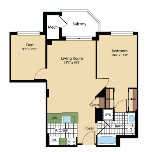 Floor Plan 18 | Meridian at Pentagon City