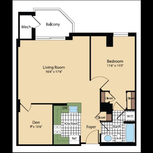Floor Plan 19 | Meridian at Pentagon City