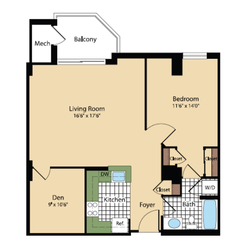 Floor Plan 19 | Meridian at Pentagon City