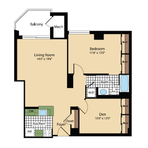 Floor Plan 20 | Meridian at Pentagon City