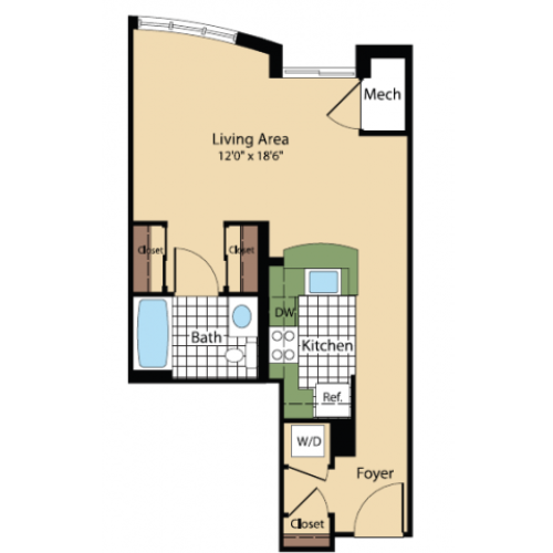 Floor Plan 12 | Meridian at Pentagon City