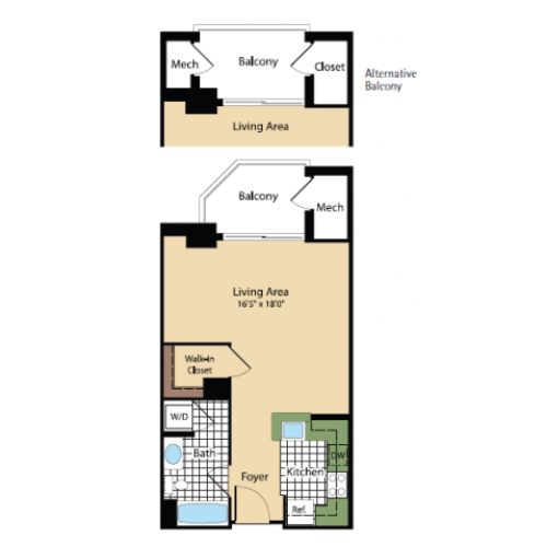 Floor Plan 11 | Meridian at Pentagon City