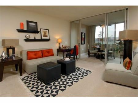 Elegant Living Room | Studio Apartments In Alexandria VA | Meridian at Carlyle