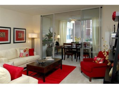 Elegant Living Room | One Bedroom Apartments In Alexandria VA | Meridian at Eisenhower Station