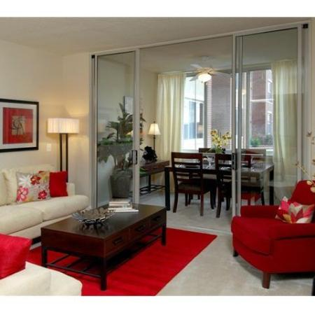 Elegant Living Room | One Bedroom Apartments In Alexandria VA | Meridian at Eisenhower Station