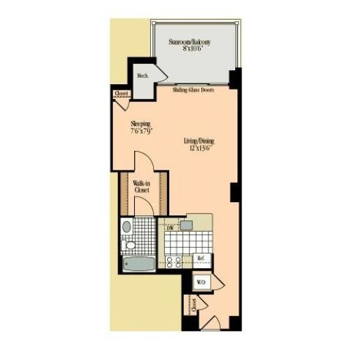 Floor Plan 7 | Meridian at Braddock Station
