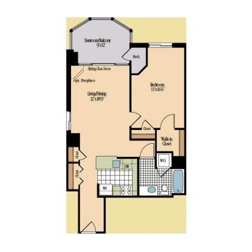 Floor Plan 11 | Meridian at Braddock Station