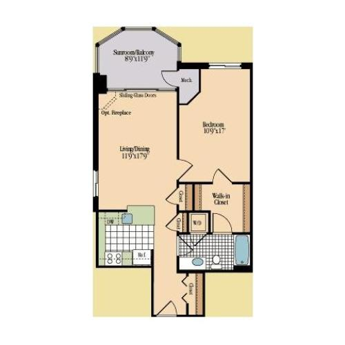 Floor Plan 9 | Meridian at Braddock Station