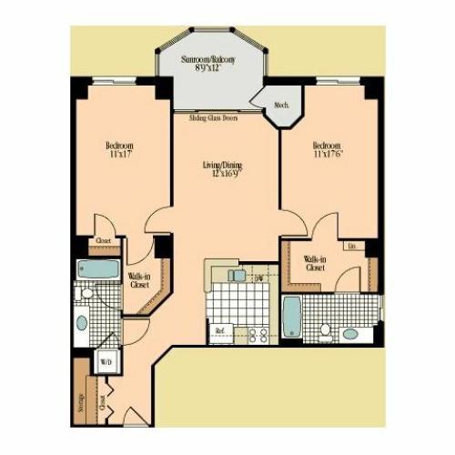 Floor Plan 15   Meridian at Braddock Station