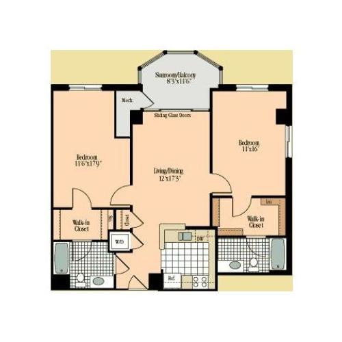 Floor Plan 17 | Meridian at Braddock Station
