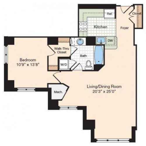 Floor Plan 36 | Old Town Alexandria Apartments | Meridian at Eisenhower Station