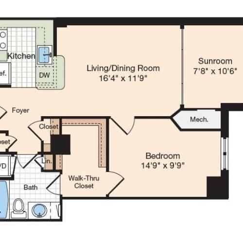 Floor Plan 31 | Old Town Alexandria Apartments | Meridian at Eisenhower Station