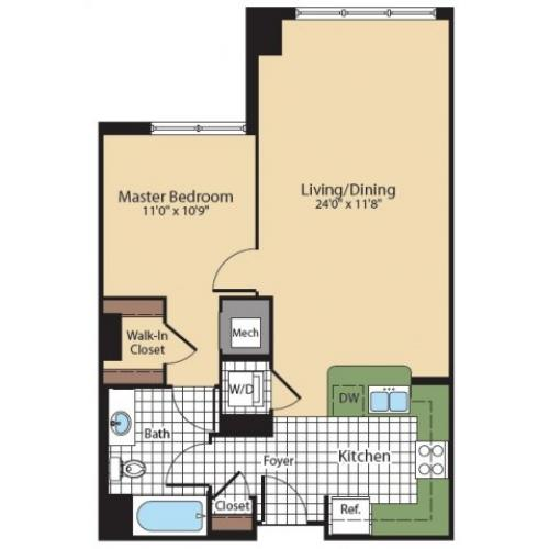 Floor Plan 1 | KW8 | Meridian at Grosvenor Station