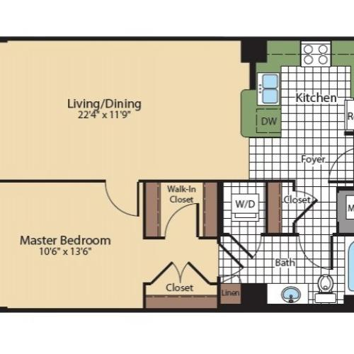 Floor Plan 6 | Apartments In North Bethesda | Meridian at Grosvenor Station