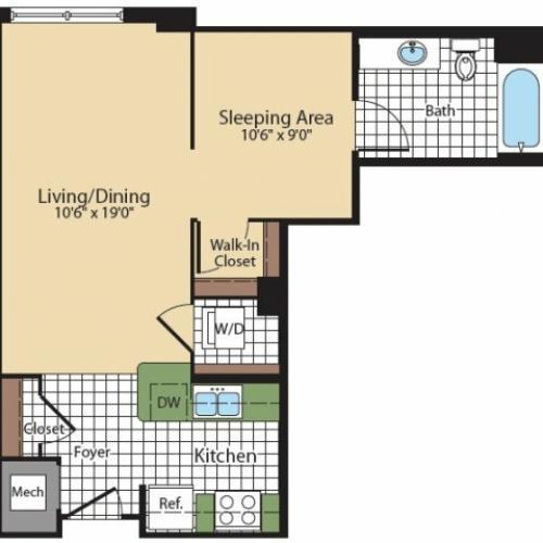 Floor Plan 7 | Bethesda Luxury Apartments | Meridian at Grosvenor Station