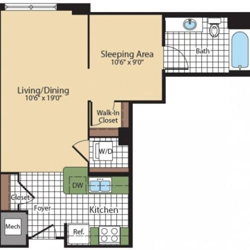 Floor Plan 7 | Bethesda Luxury Apartments | Meridian at Grosvenor Station