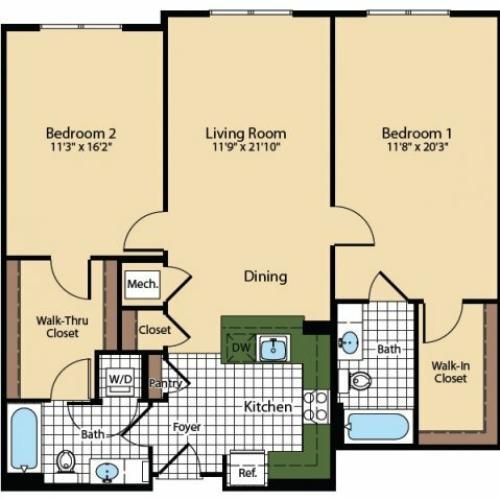 Floor Plan 3 | The Madison at Ballston Station