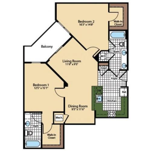 Floor Plan 4 | The Madison at Ballston Station