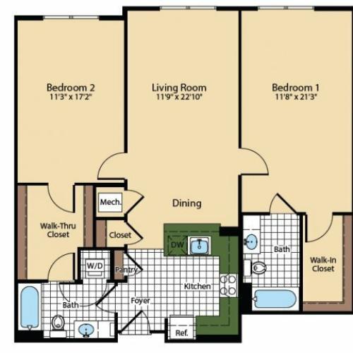 Floor Plan 5 | The Madison at Ballston Station