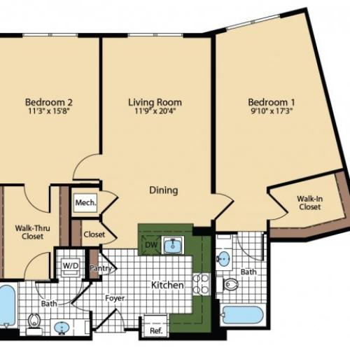 Floor Plan 6 | The Madison at Ballston Station