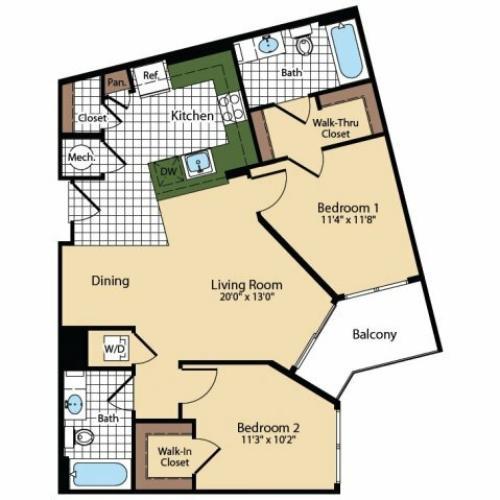 Floor Plan 7 | The Madison at Ballston Station