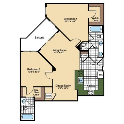 Floor Plan 8 | The Madison at Ballston Station
