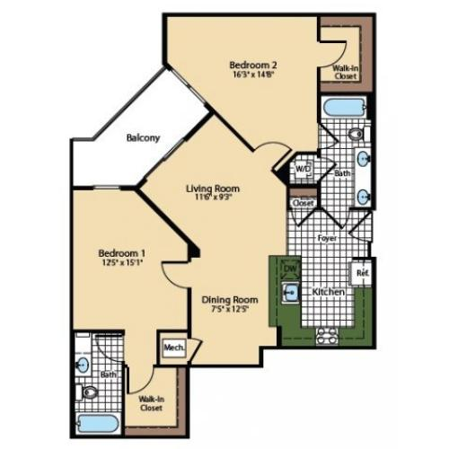 Floor Plan 9 | The Madison at Ballston Station