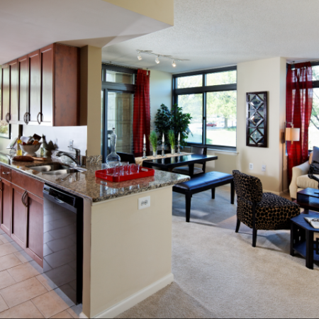 Spacious Living Room | North Bethesda Luxury Apartments | Meridian at Grosvenor Station