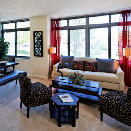 Spacious Living Area | Bethesda Luxury Apartments | Meridian at Grosvenor Station