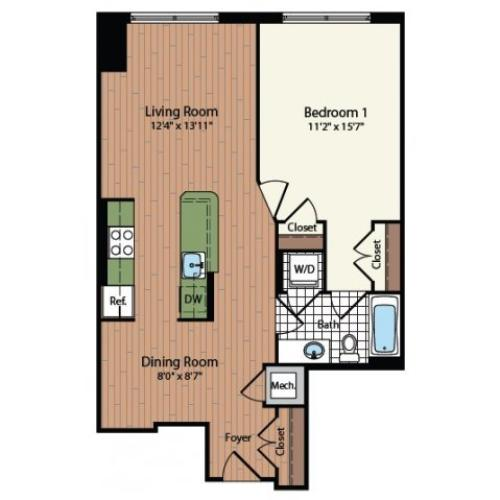 Floor Plan 16 | Meridian at Mt Vernon Triangle