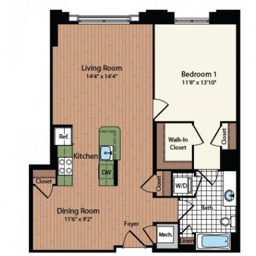 Floor Plan 18 | Meridian at Mt Vernon Triangle