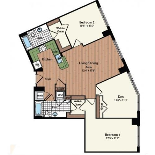 Floor Plan 30 | Meridian at Mt Vernon Triangle