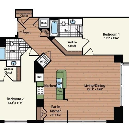 Floor Plan 24 | Meridian at Mt Vernon Triangle