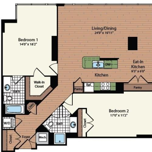 Floor Plan 22 | Meridian at Mt Vernon Triangle