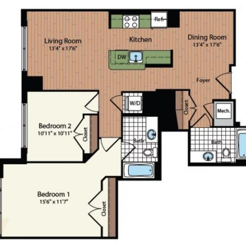 Floor Plan 28 | Meridian at Mt Vernon Triangle