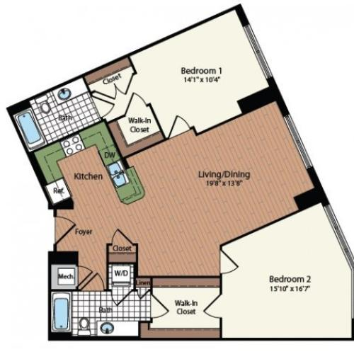 Floor Plan 23 | Meridian at Mt Vernon Triangle