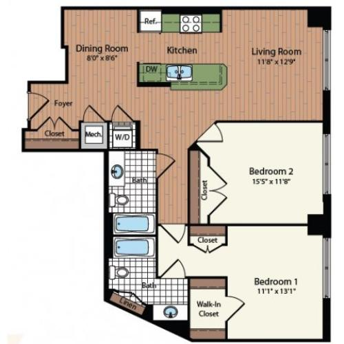 Floor Plan 25 | Meridian at Mt Vernon Triangle