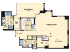 2 Bdrm Floor Plan | Apartments In Alexandria VA | Carlyle Place