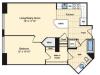 1 Bedroom Floor Plan | Luxury Apartments In Alexandria VA | Carlyle Place
