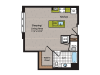Studio Floor Plan | Washington DC Apartment For Rent | 360H Street 4