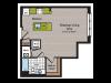 Studio Floor Plan | Washington DC Apartment For Rent | 360H Street 5