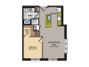 1 Bedroom Floor Plan   Washington DC Apartments   360H Street