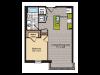 1 Bedroom Floor Plan | Washington DC Apartments | 360H Street 3