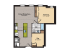 1 Bedroom Floor Plan   Washington DC Apartments   360H Street 7