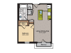 1 Bedroom Floor Plan | Washington DC Apartments | 360H Street 8