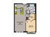 1 Bedroom Floor Plan | Washington DC Apartments | 360H Street 9