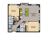 2 Bedroom Floor Plan | Apartments In Washington DC | 360H Street 5