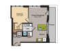1 Bedroom Floor Plan | Washington DC Apartments | 360H Street 11